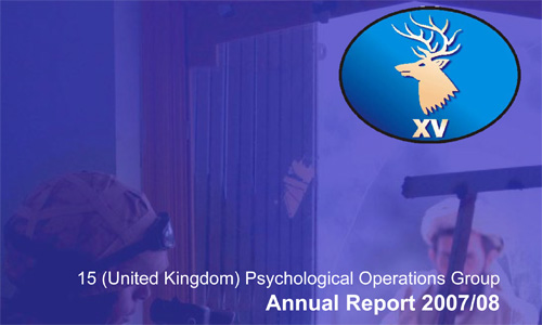 15 (UK) PSYOPS Group Annual Report 2007/2008