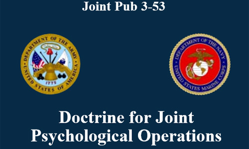 JP 3-53 Doctrine for Joint Psychological Operations, 10 July 1996, (US)