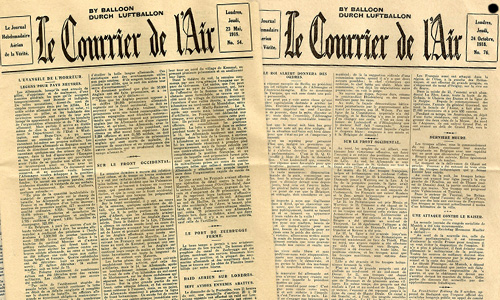 A report on the WWI leaflet-newspaper Le Courrier de l'Air by Edward Heron-Allenby
