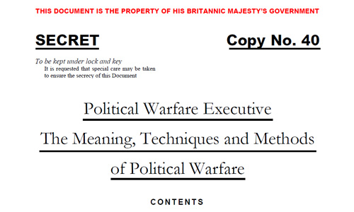 The Meaning, Techniques and Methods of Political Warfare
