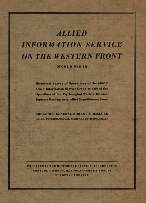 Allied Information Service on the Western Front