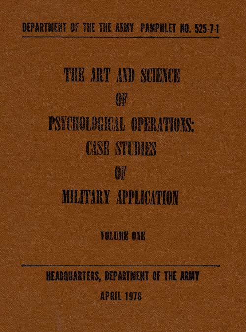 Art and Science of Psychological Operations, The