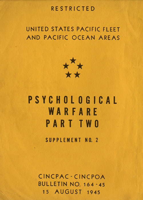 Psychological Warfare PART 2, Supplement No. 2 - 15 August 1945