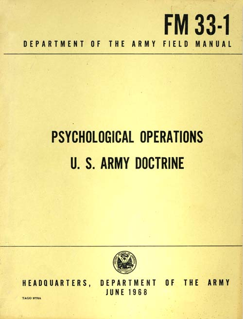 FM 33-1 Psychological Operations U.S. Army Doctrine - June 1968
