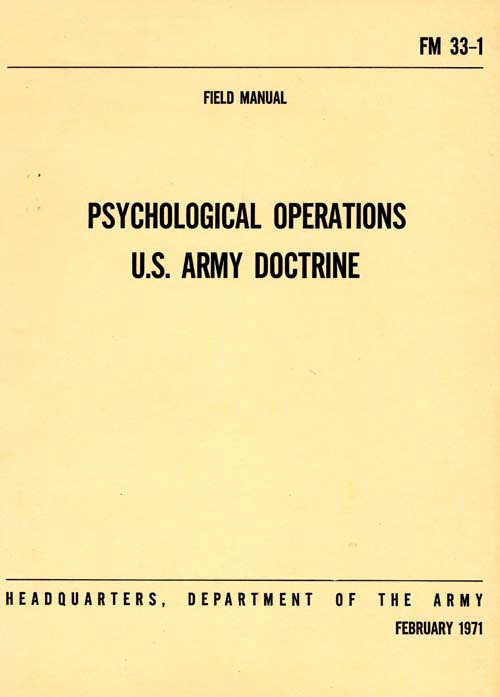 FM 33-1 Psychological Operations - 4 February 1971