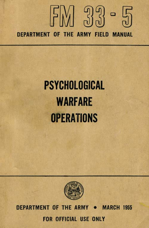 FM 33-5 Psychological Warfare Operations - March 1955