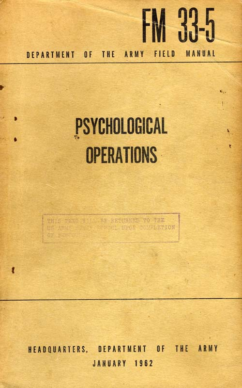 FM 33-5 Psychological Operations - January 1962