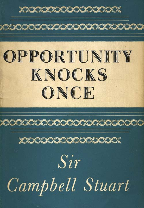 Opportunity Knocks Once