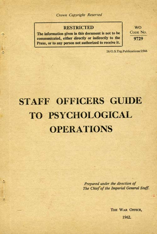 Staff Officers Guide to Psychological Operations