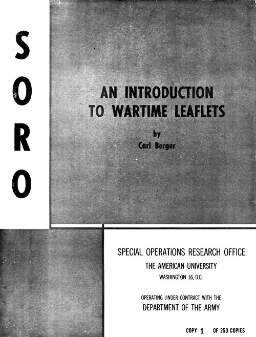 An Introduction to Wartime Leaflets
