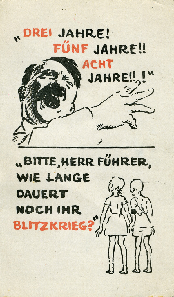 French Propaganda Leaflets to Germany 1939-40 (Commissariat General a l'Information)