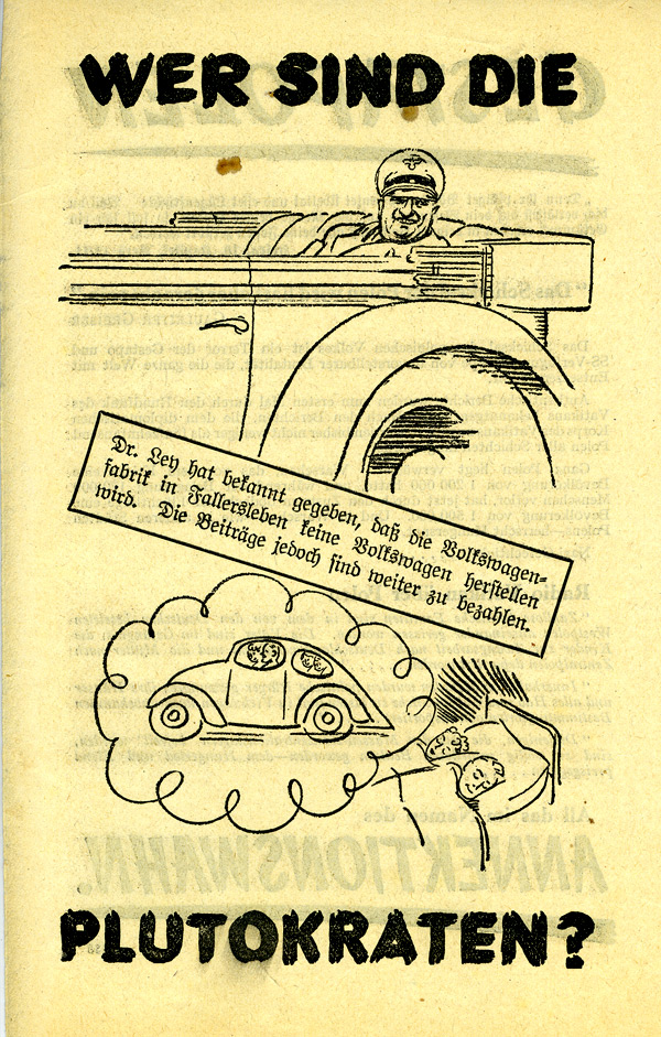 Random PSYOP leaflet - GESTAPOLEN / WHO ARE THE PLUTOCRATS? (People's Car)