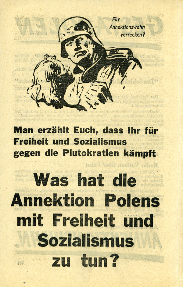 Random PSYOP leaflet - GESTAPOLEN / You are told that you are fighting for Freedom…