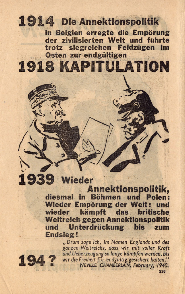 Random PSYOP leaflet - 1914 The Annexation policy / GESTAPOLEN