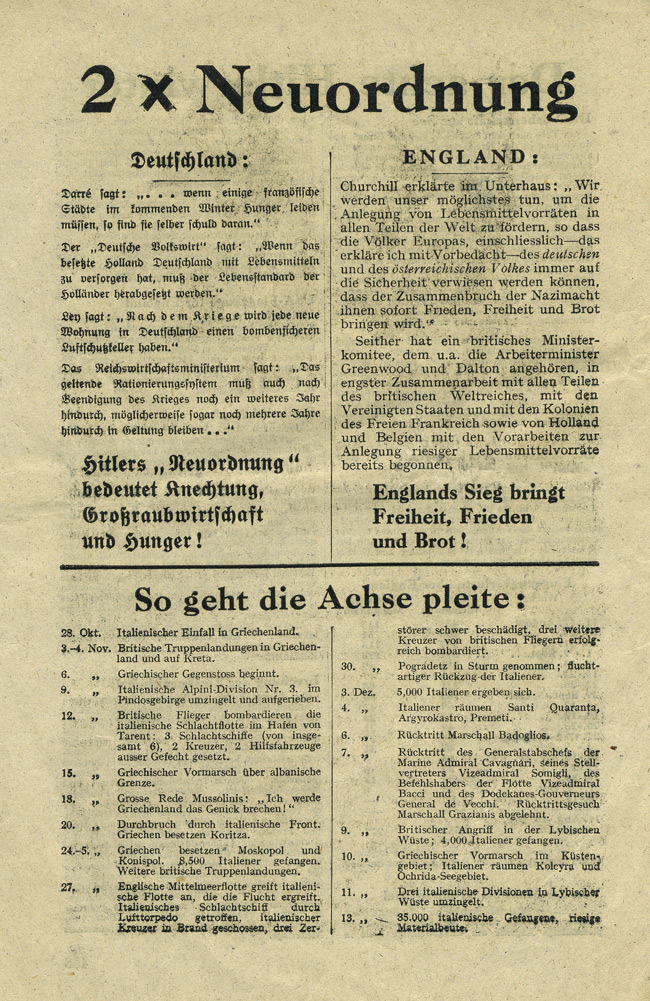 Random PSYOP leaflet - Two times New Order / The Eighth Hitler-Winter