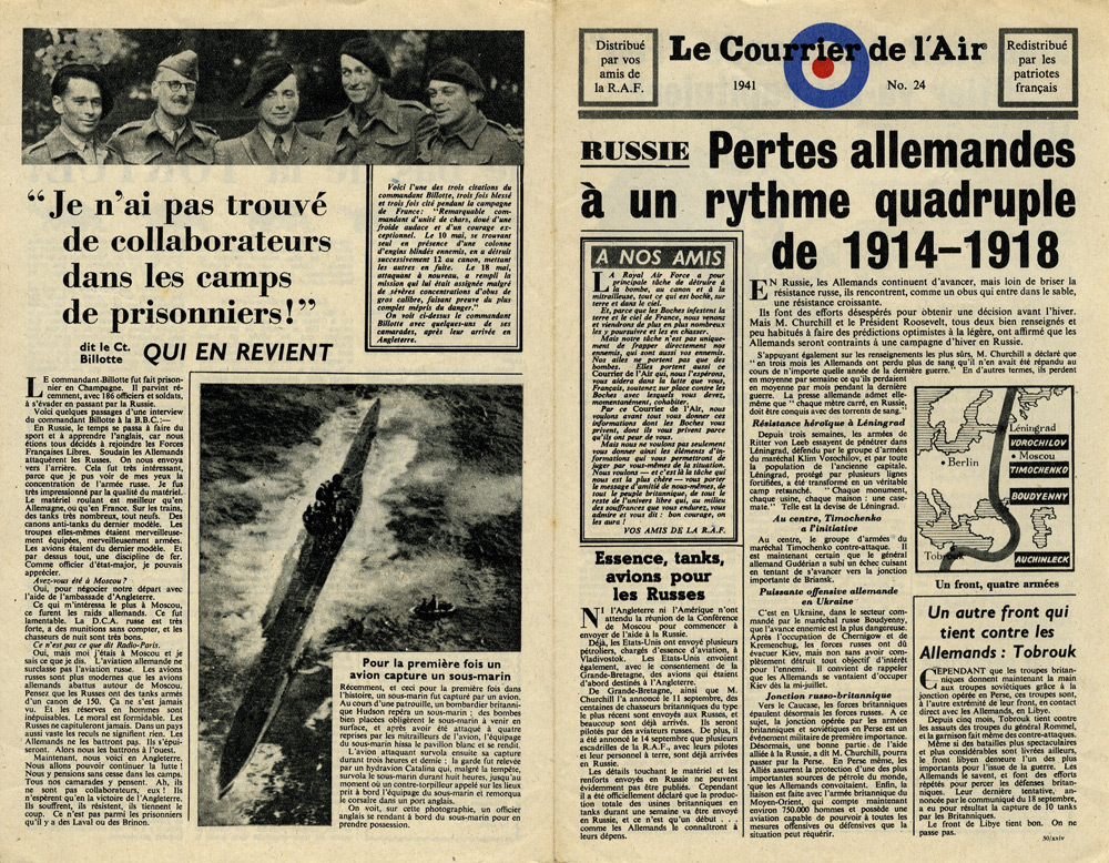 Random PSYOP leaflet - Le Courrier de l'Air, No. 24
