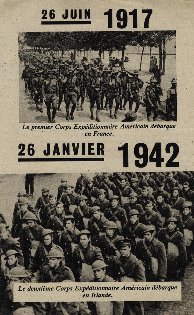 Random PSYOP leaflet - The first American troops have landed in Europe