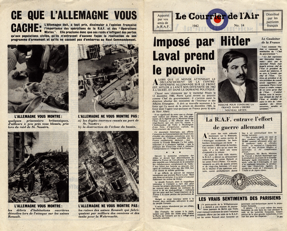 Random PSYOP leaflet - Le Courrier de l'Air, No. 14