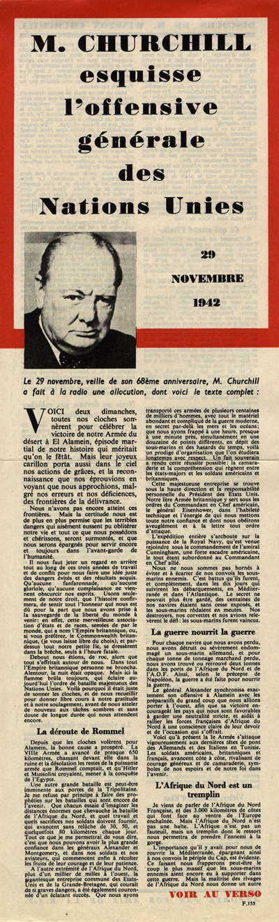 Random PSYOP leaflet - Mr. Churchill discusses the general offensive of the United Nations