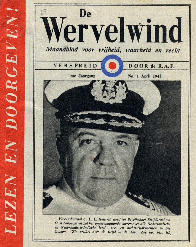 Random PSYOP leaflet - The Whirlwind, No. 1, April 1942