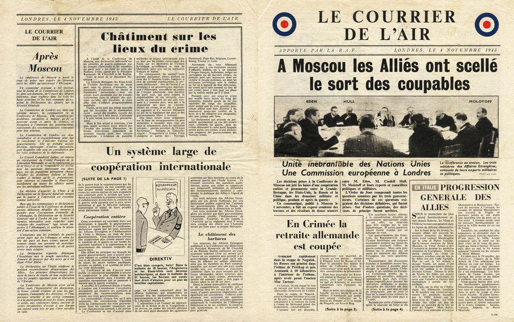 Random PSYOP leaflet - Le Courrier de l'Air, 4 November 1943