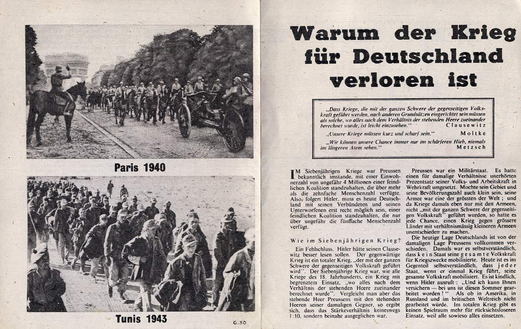 Random PSYOP leaflet - War Lost for Germany