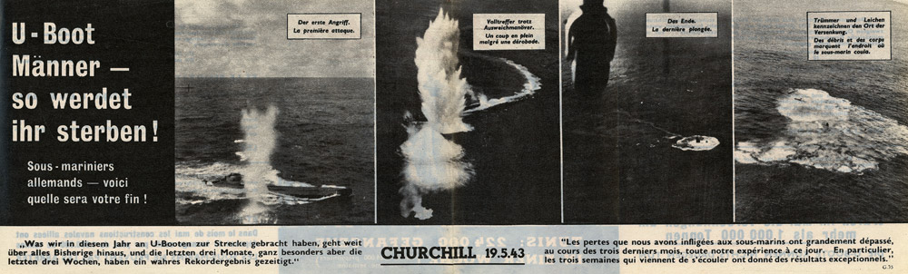 Random PSYOP leaflet - U-Boat Men - This is how you will die!