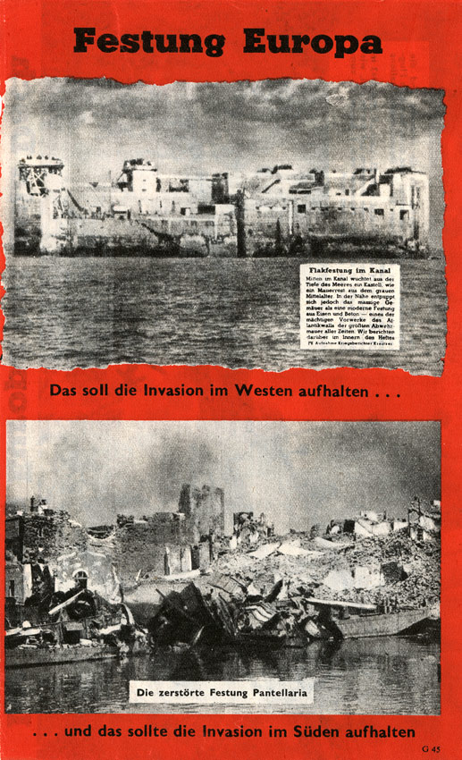 Random PSYOP leaflet - Fortress of Europe, No. 2