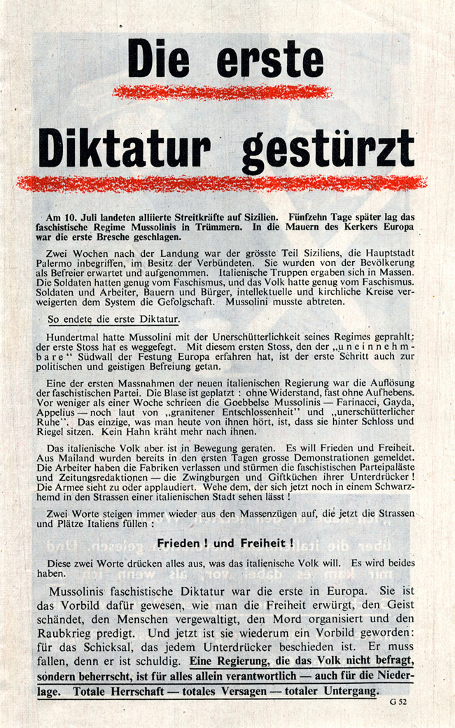 Random PSYOP leaflet - The First Dictatorship has Fallen