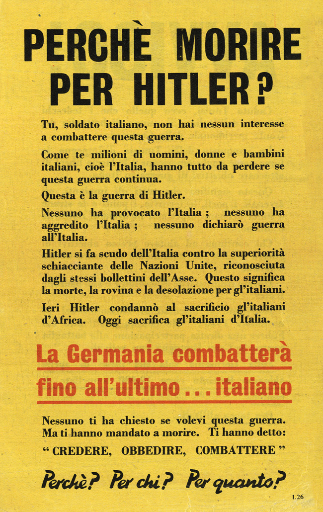 British to Italians, PWE, 1942-45