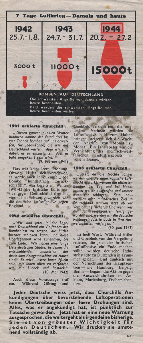 Random PSYOP leaflet - Churchill's New Warning