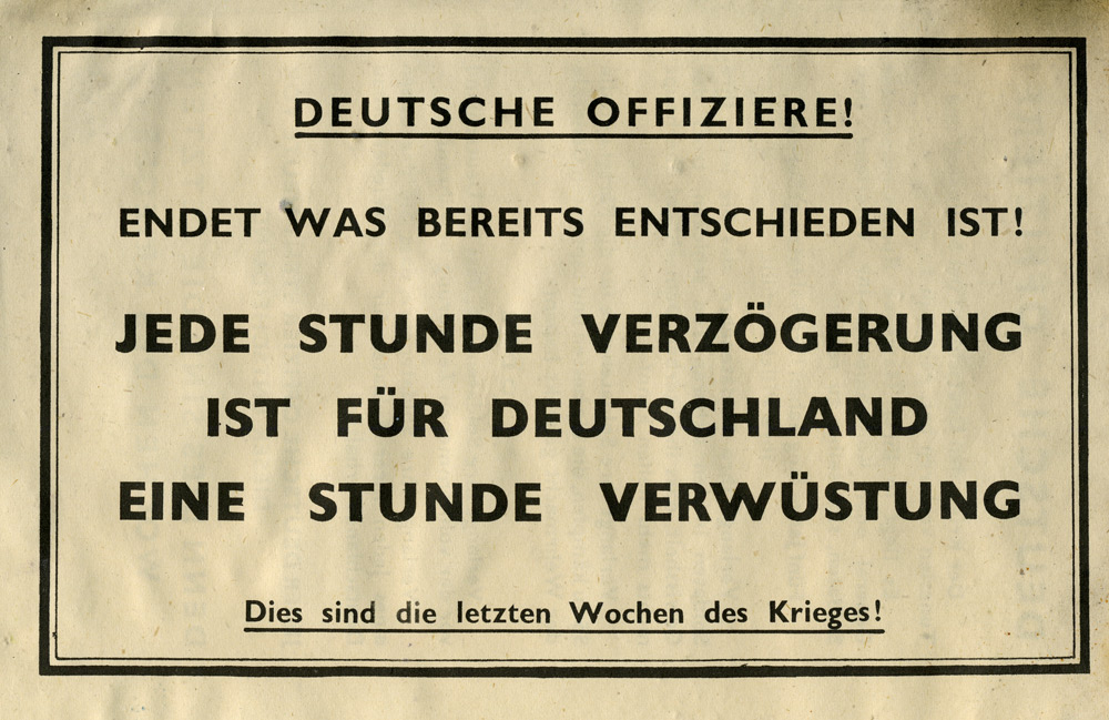 Random PSYOP leaflet - GERMAN OFFICERS!