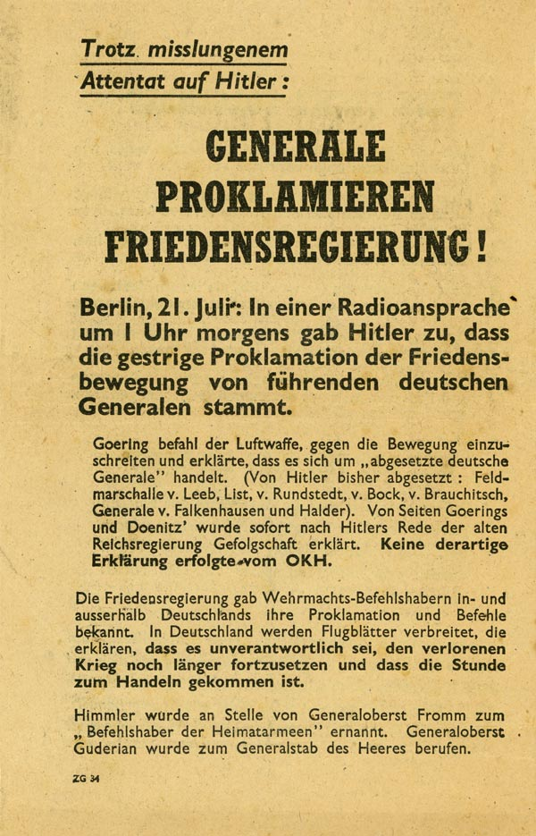 Random PSYOP leaflet - The Attack on Hitler