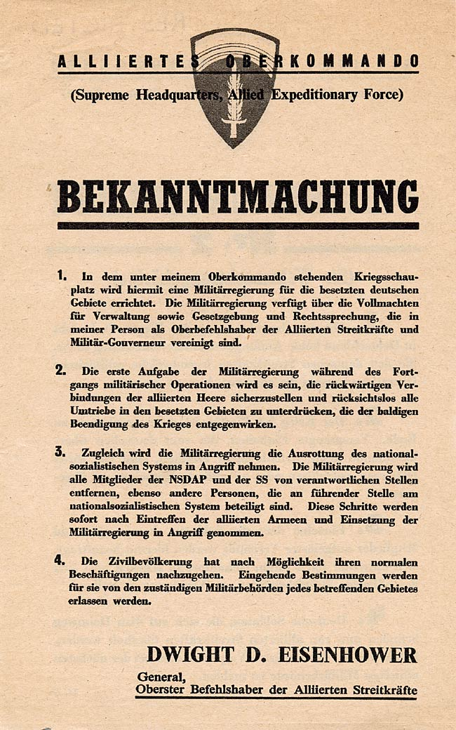 Random PSYOP leaflet - Notice No. 2 for the Wehrmacht