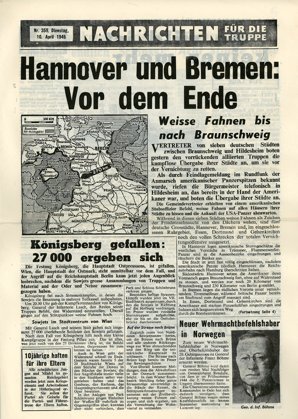 Random PSYOP leaflet - News for the Troops, No. 359, 10 April 1945