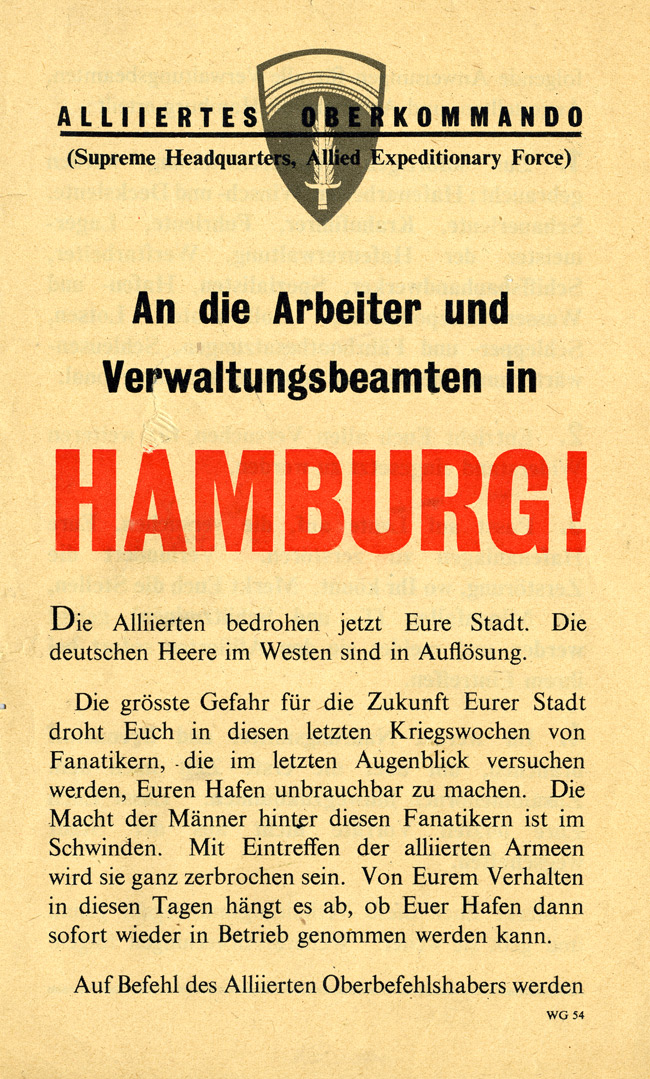 Random PSYOP leaflet - To the workers and port officials of HAMBURG!