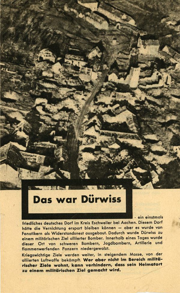 Random PSYOP leaflet - That Was Dürwiss