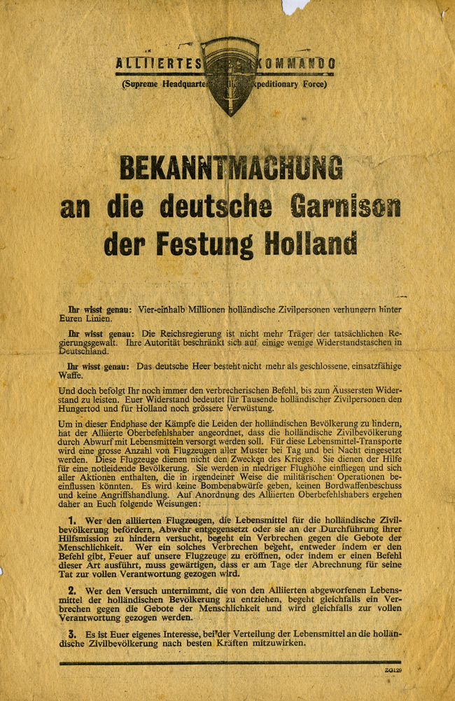 Random PSYOP leaflet - To the German Garrison in Holland