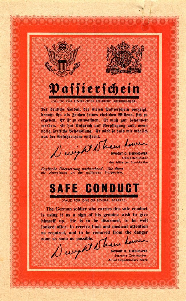 Random PSYOP leaflet - Safe Conduct (Final Edition)