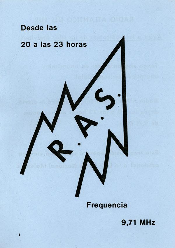 Leaflet promoting Radio Atlantico del Sur, i