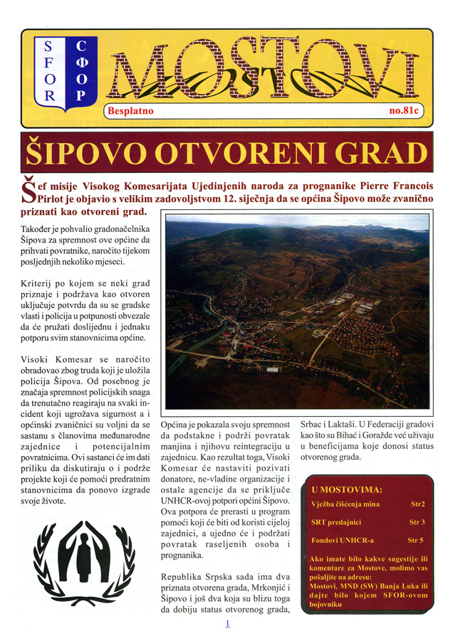 Random PSYOP leaflet - The Bridge, No. 81, Croatian