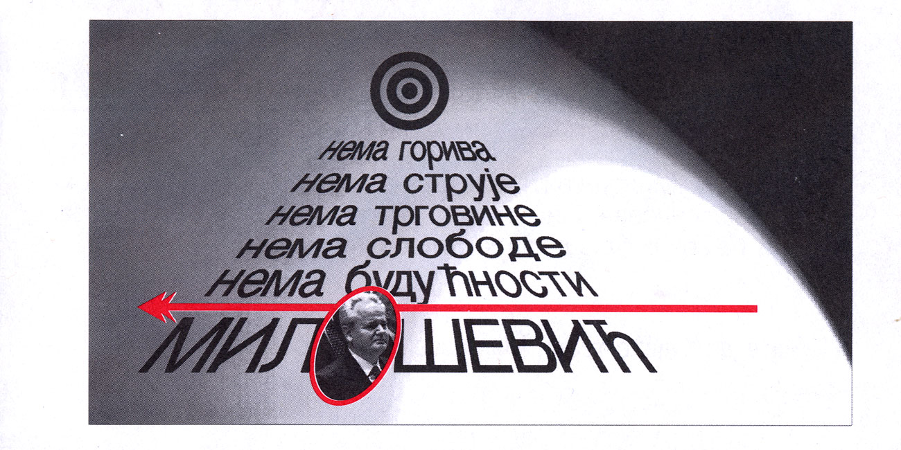 Random PSYOP leaflet - How long will you suffer for Miloshevich?