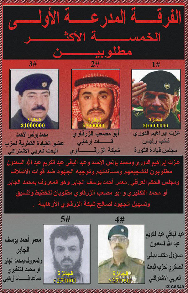 Random PSYOP leaflet - 1st Armored Division's Top 5 MOST WANTED