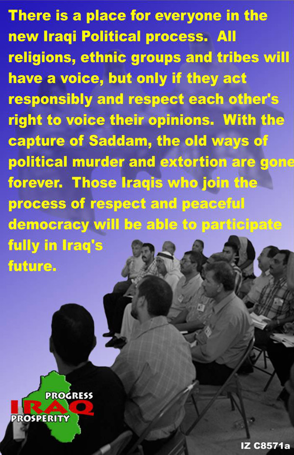 Random PSYOP leaflet - There is a place for everyone in the new Iraqi Political process