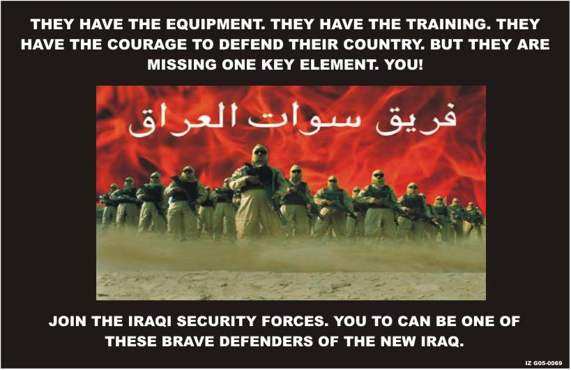 Random PSYOP leaflet - They have the equipment. They have the training. They have the courage…