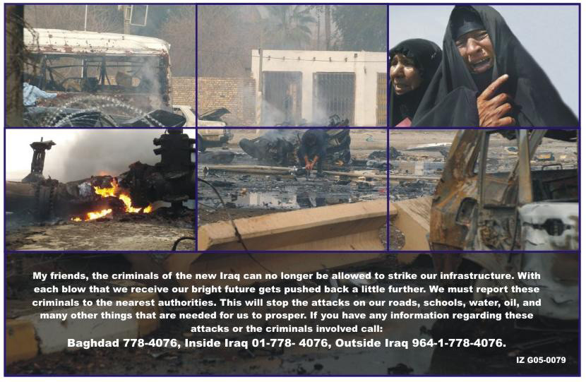 Random PSYOP leaflet - My friends, the criminals of the new Iraq can no longer…