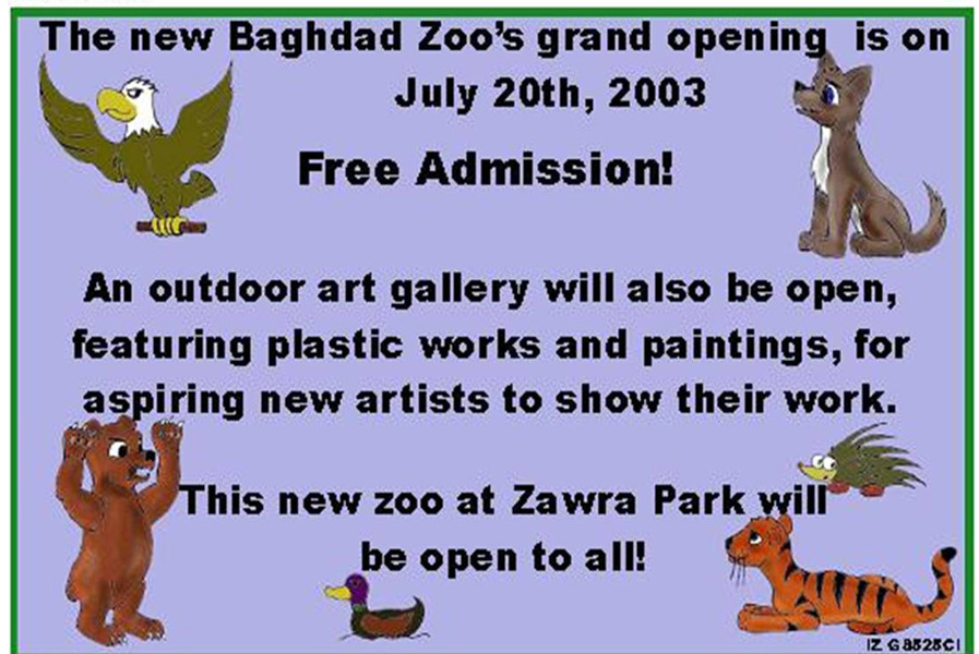Random PSYOP leaflet - Free Admission! The Zoo will be open from 10am to 7pm