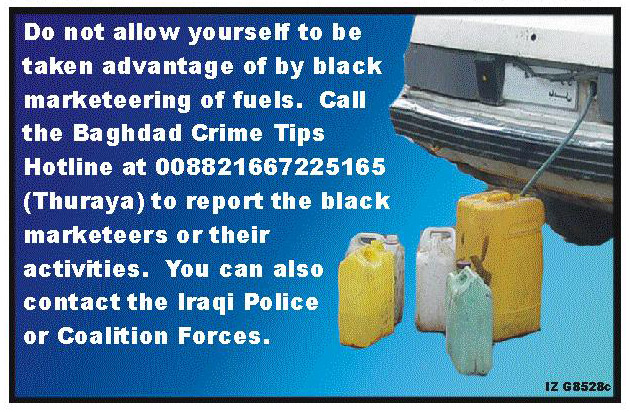 Random PSYOP leaflet - Black Martketeers are stealing your gasoline…