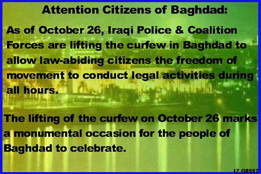 Random PSYOP leaflet - The curfew has been conditionally lifted…