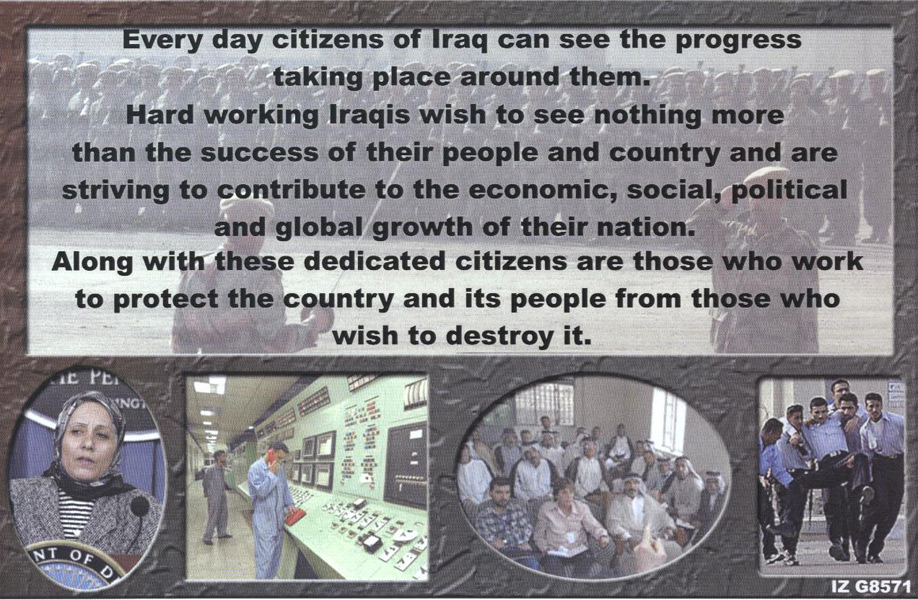 Random PSYOP leaflet - The most representative governing body in Iraqi's history…